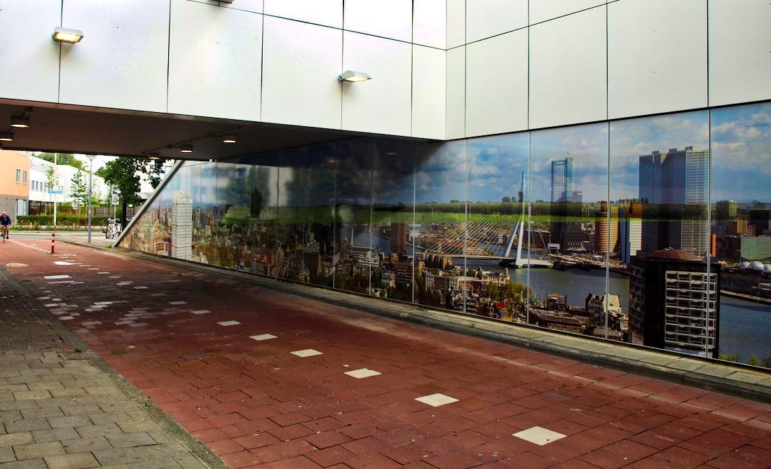 Kunstwand Metrostation Capelsebrug
